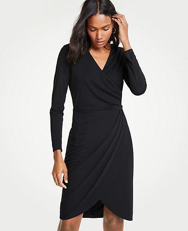 앤테일러 Ann Taylor Ruched Sheath Dress,Black