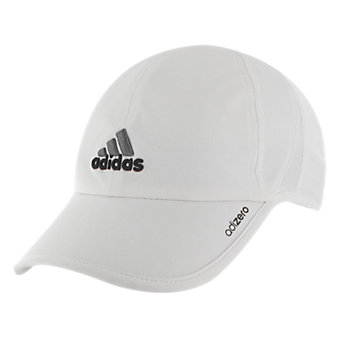 Men's adizero II Cap, White/Black/Sharp Grey