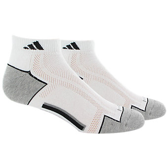 Men's climacool II 2-Pack Low Cut, White/Black/Aluminum 2