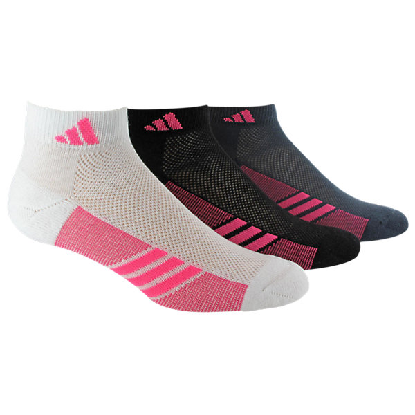 Climacool Superlite 3-Pack Low Cut, White/solar Pink Black/solar Pink Bold Onix/solar Pink, large