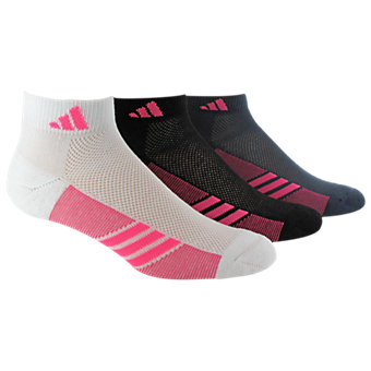 Climacool Superlite 3-Pack Low Cut, White/Solar Pink Black/Solar Pink Bold Onix/Solar Pink
