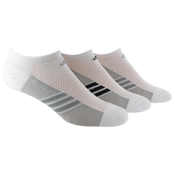 Women's Climacool Superlite 3-Pack No Show, White/Lt Onix White/Black/Lt Onix White/Lt Onix, large