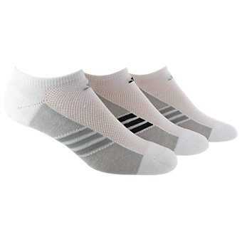 Women's Climacool Superlite 3-Pack No Show, White/Lt Onix White/Black/Lt Onix White/Lt Onix