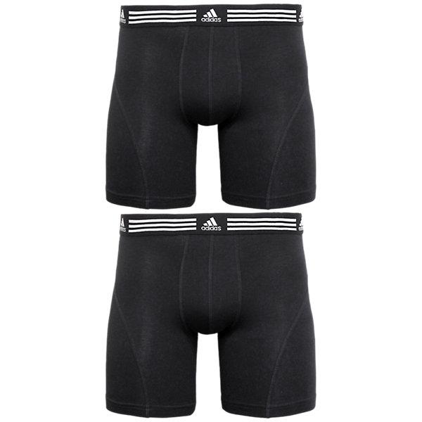 Athletic Stretch 2-Pack Boxer Brief, Black/Black Black/Black, large
