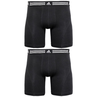 Athletic Stretch 2-Pack Boxer Brief, Black/Black Black/Black