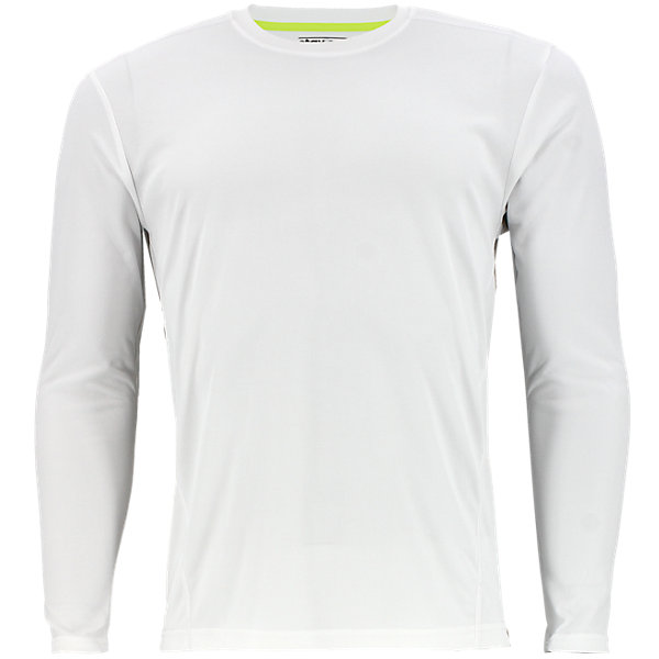 Climalite Single Long-Sleeve Crew, White, large