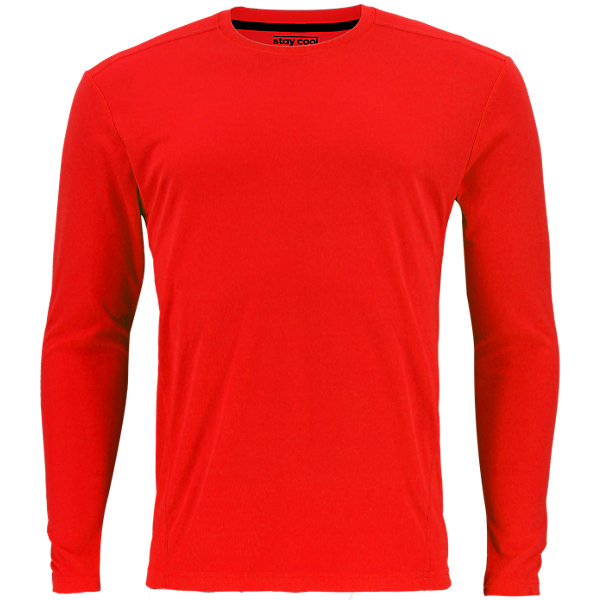 Climacool Single Long-Sleeve Crew, Hi Res Red, large