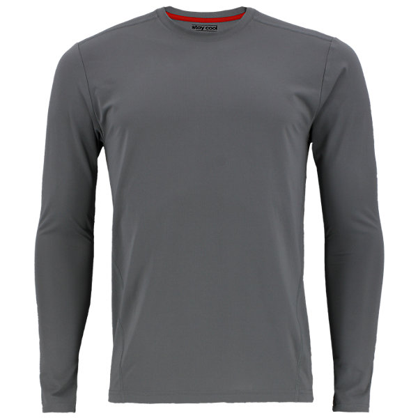 Climacool Single Long-Sleeve Crew, Grey, large