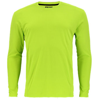 Climalite Single Long-Sleeve Crew, Semi Solar Slime
