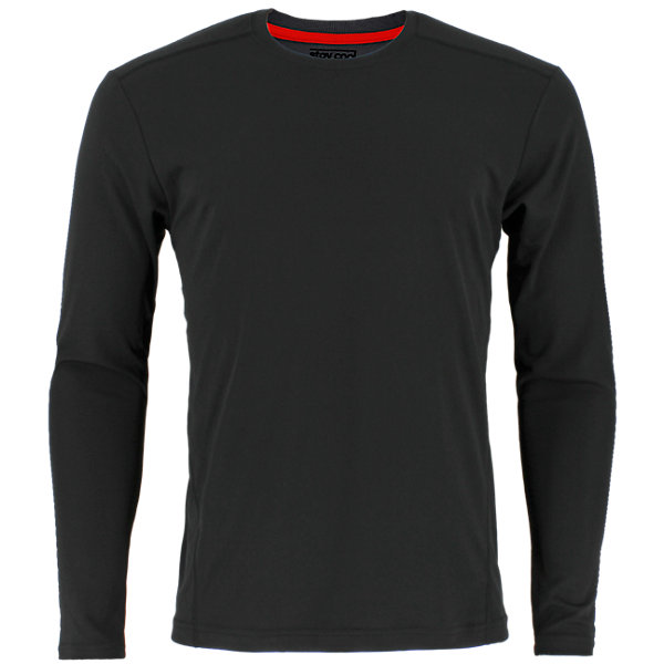 Climacool Single Long-Sleeve Crew, Black, large