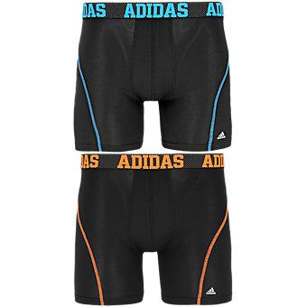 Sport Performance Climacool 2-Pack Boxer Brief, Black/Solar Blue Black/Solar Orange
