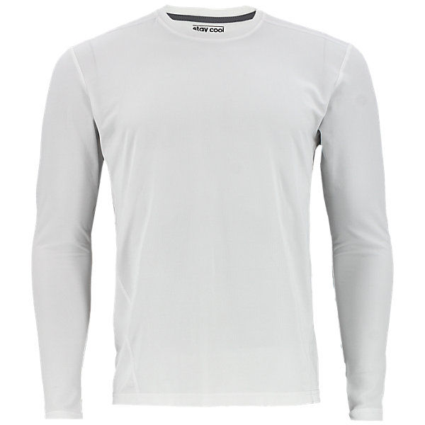 Climacool Single Long-Sleeve Crew, White, large