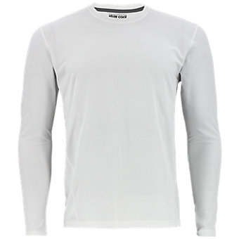 Men's Climacool Single Long-Sleeve Crew, White