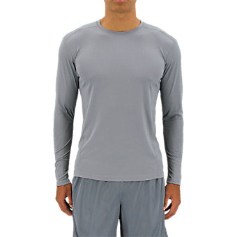 Climalite Single Long-Sleeve Crew, Grey