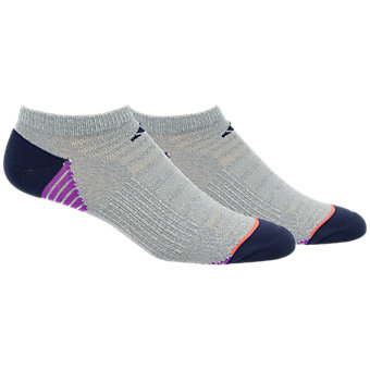 Superlite Speed Mesh 2-Pack No Show, Clear Grey Marl/Midnight Grey/Shock Purple/Easy Coral