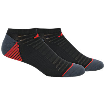 Superlite Speed Mesh 2-Pack No Show, Black/Dark Grey/Scarlet