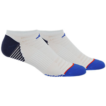 Superlite Speed Mesh 2-Pack No Show, White/Blue/Collegiate Navy/Energy Red