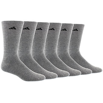 Athletic 6-Pack Crew, Heather Grey/Black
