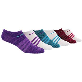 Superlite 6-Pack No Show, Shock Purple-Unity Purple Space Dye/White/Shock Purple/Mystery Green-Shock Mint Space Dye/White/Shoc