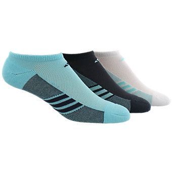 Climacool Superlite 3-Pack No Show, Clear Aqua/Bold Onix/White