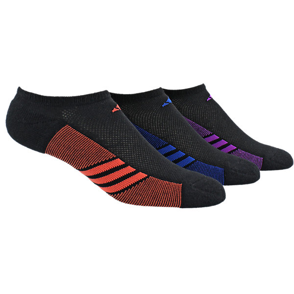 Climacool Superlite 3-Pack No Show, Black/Easy Coral/Collegiate Royal/Shock Purple, large