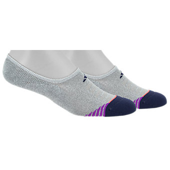 Superlite Speed Mesh 2-Pack Super No Show, Clear Grey Marl/Midnight Grey/Shock Purple/Easy Coral