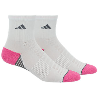 adidas quarter socks. superlite speed mesh 2-pack quarter, white/mono pink-pink glow marl adidas quarter socks
