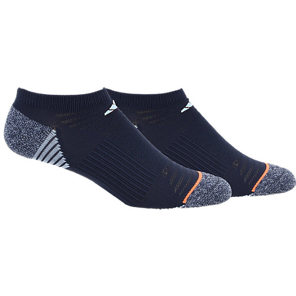 Superlite Speed Mesh 2-Pack No Show, Midnight Grey/Easy Blue-Grey Marl/Glow Orange, large