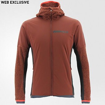 Terrex Climaheat Techrock Hooded Fleece, Fox Brown