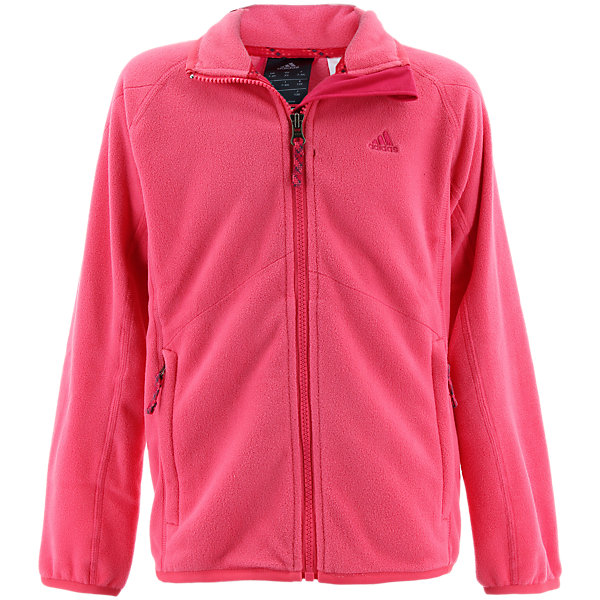 Boys Fleece Jacket, Super Pink, large