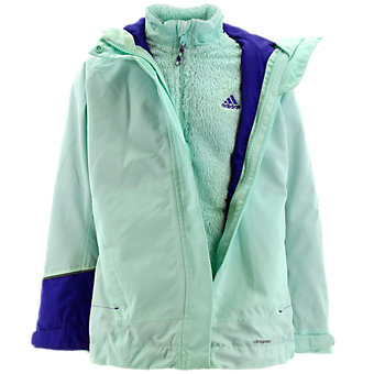 Girls 3in1 Cps Fleece Jacket, Frozen Green