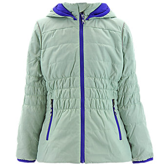 Girls Lofty Hoodie, Frozen Green/Clear Onix