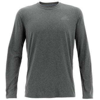 Ultimate Long Sleeve Tee, Dark Gray Heather/Dark Solid Gray