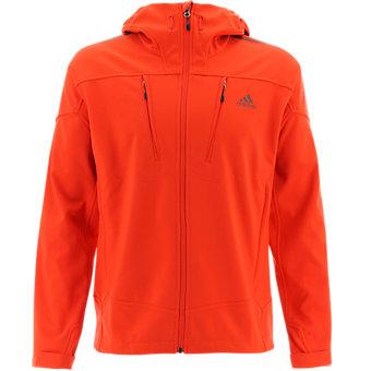 Terrex Swift Softshell Hoodie, Bold Orange/Fox Brown, medium