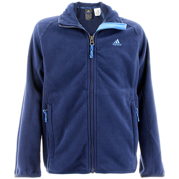 Boys Fleece Jacket, Collegiate Navy, large