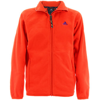 Boys Fleece Jacket, Bold Orange