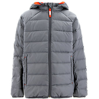 Kids Froosty Hooded Jacket, Midnight Gray