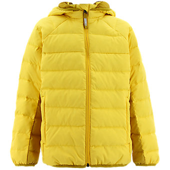 Kids Froosty Hooded Jacket, Super Yellow/Raw Ochre