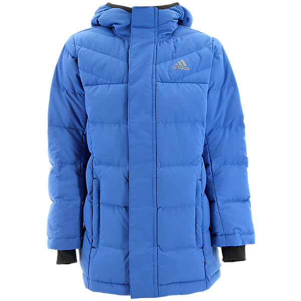 Kids Heatmax Hooded Jacket, Super Blue/Midnight Gray, large