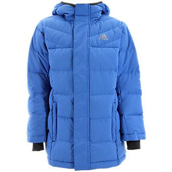Kids Heatmax Hooded Jacket, Super Blue/Midnight Gray