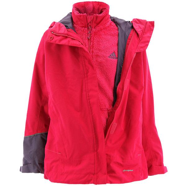 Girls 3in1 Cps Fleece Jacket, Vivid Berry, large