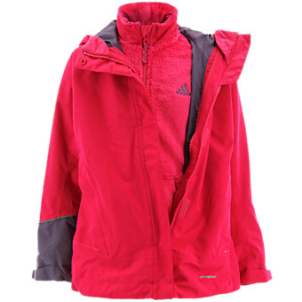Girls 3in1 Cps Fleece Jacket, Vivid Berry
