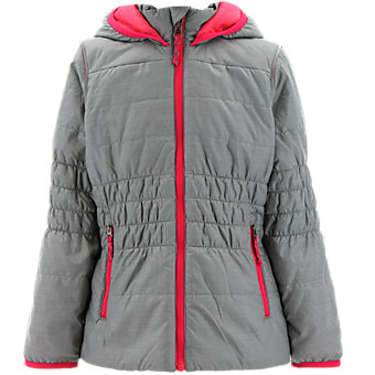 Girls Lofty Hoodie, Vista Gray/Clear Onix