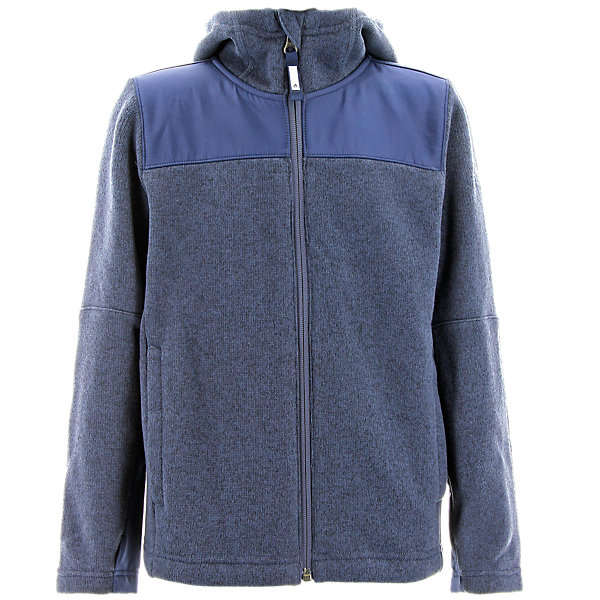 Boys Hochmoos Hoodie, Midnight Gray/Collegiate Navy, large