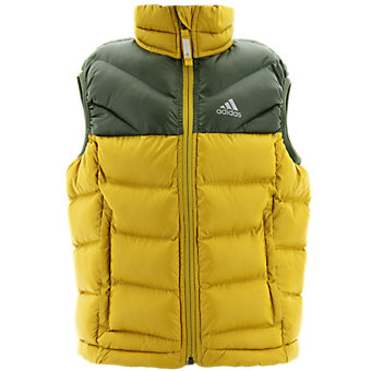 Boys Lofty Vest, Raw Ochre/Base Green