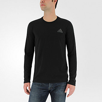 Ultimate Long Sleeve Tee, Black/Dark Solid Gray
