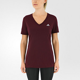 Ultimate Short Sleeve V-neck, Maroon/Matte Silver