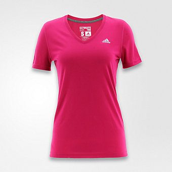 Ultimate Short Sleeve V-neck, Bold Pink/matte Silver