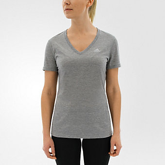 Ultimate Short Sleeve V-neck, Medium Gray Hthr/Matte Silver