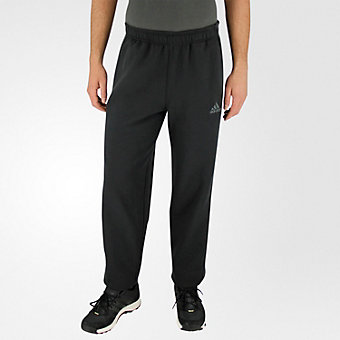 Essential Cotton Fleece Pant, Black/Dark Solid Gray